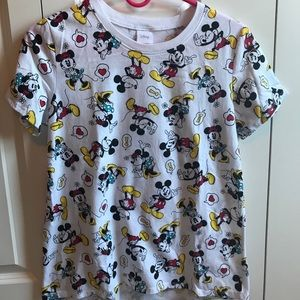 Mickey and Minnie patterned shirt